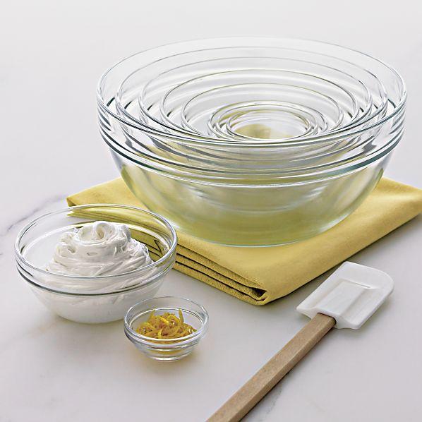"""10-Piece 2.25""""-10.25"""" Glass Nesting Bowl Set"""