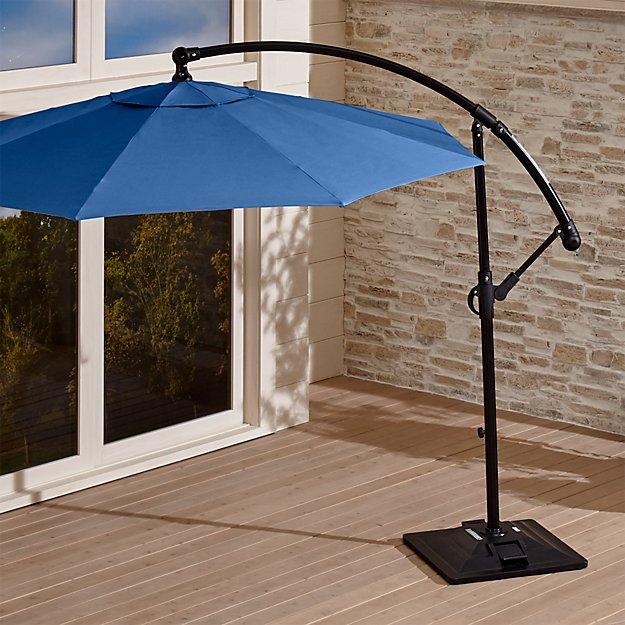 10 Round Sunbrella Mediterranean Blue Cantilever Patio