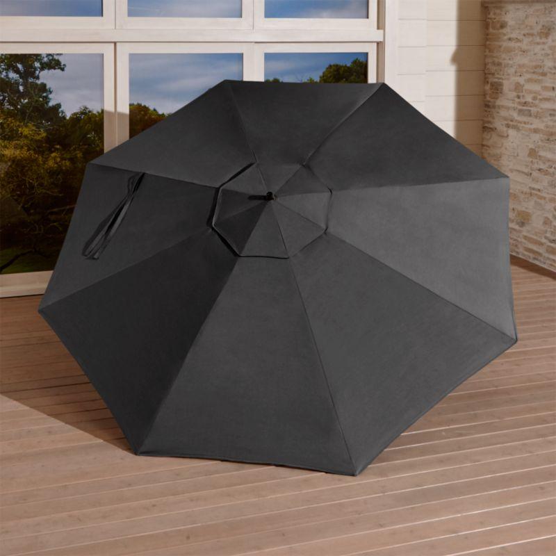 10' Round Sunbrella ® Charcoal Cantilever Umbrella Canopy