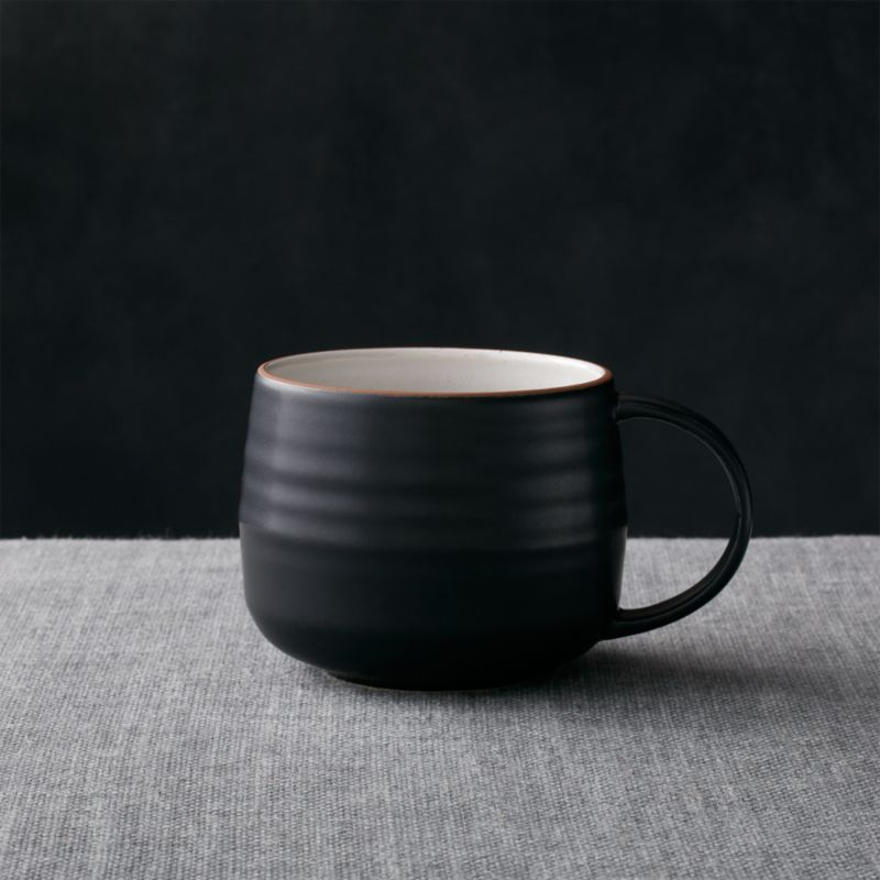 Matte Black Coffee Mug Crate and Barrel : 18thStreetMug14OzSHF15 from www.crateandbarrel.com size 800 x 800 jpeg 55kB