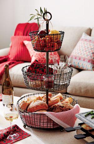 Rustic 3-Tier Fruit Basket