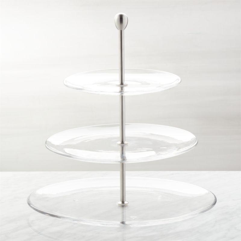 Tier Glass Cake Stand