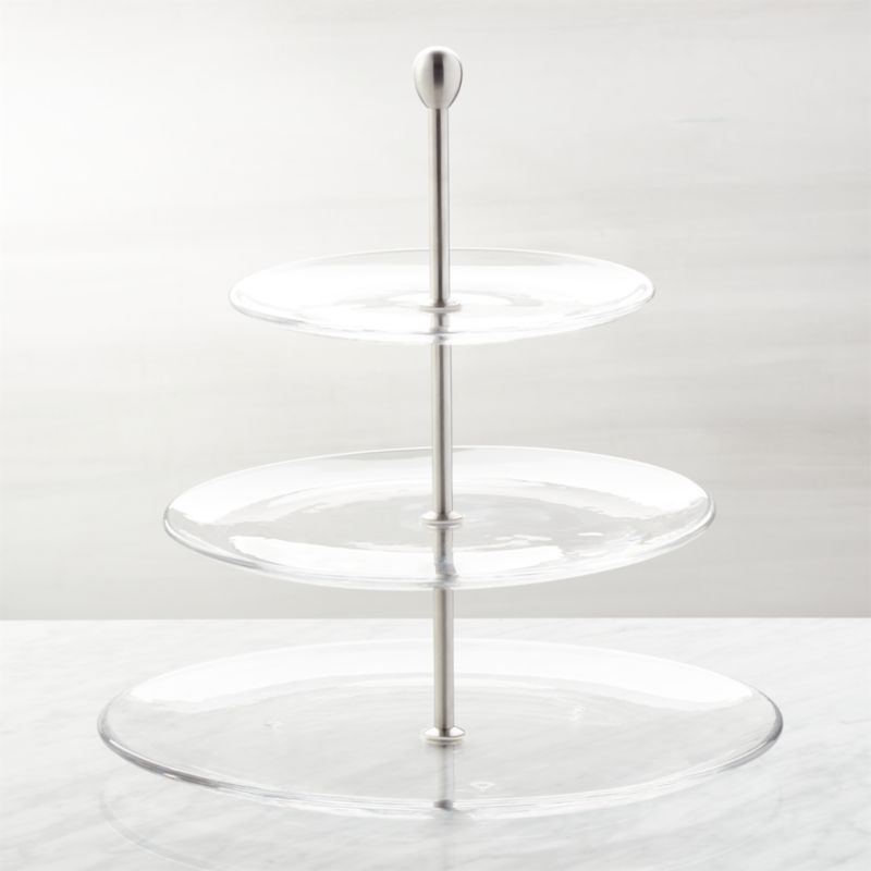 Three-Tier Glass Server