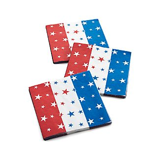 Set of 20 4th of July Paper Napkins