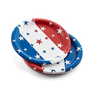 Set of 12 4th of July Paper Plates