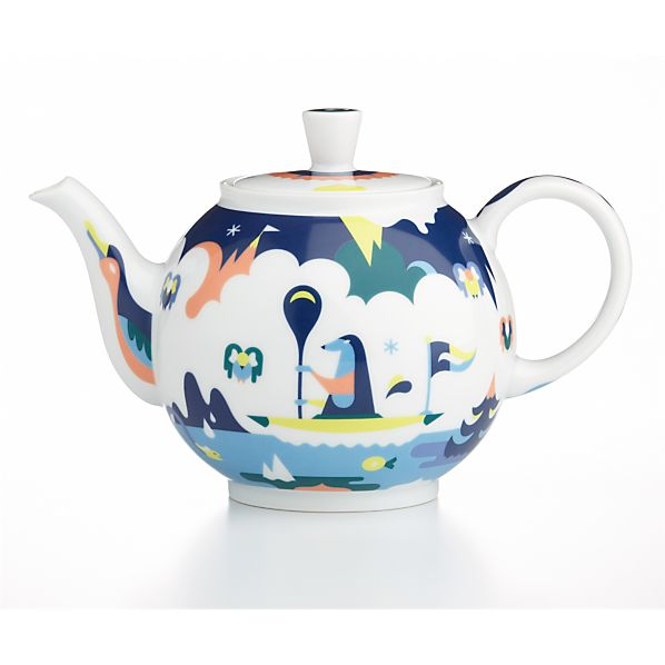December Teapot by Janine Rewell
