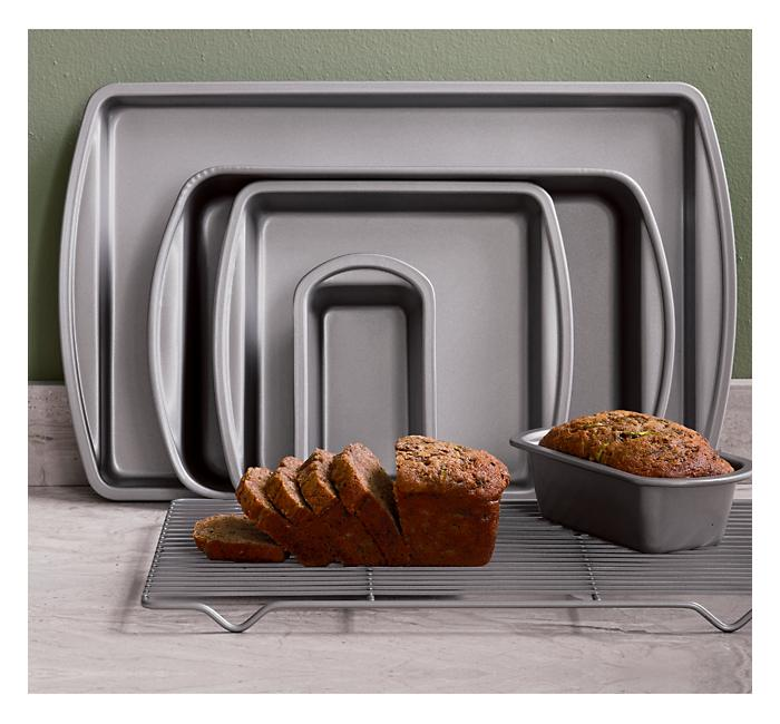 Crate and Barrel - Six-Piece Baking Set shopping in Crate and Barrel Baking Pans, Casseroles