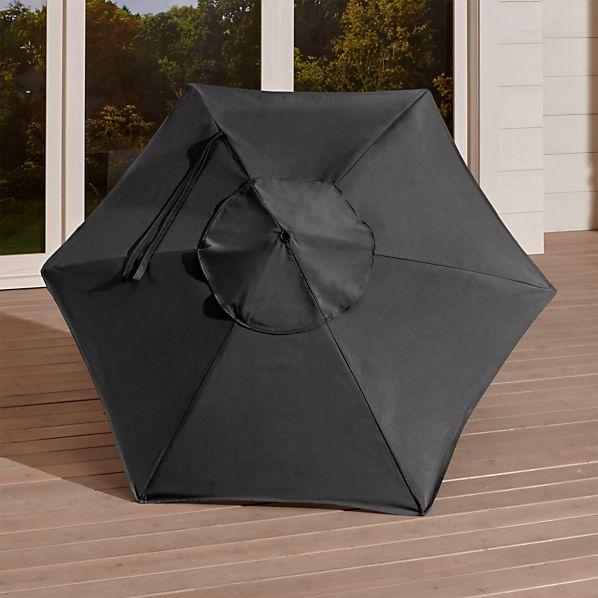 6' Round Sunbrella ® Charcoal Umbrella Canopy
