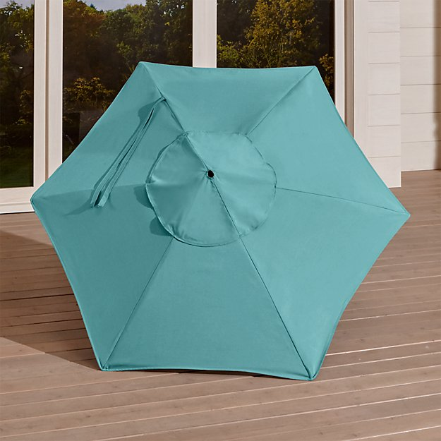 6' Round Sunbrella ® Mineral Blue Umbrella Canopy