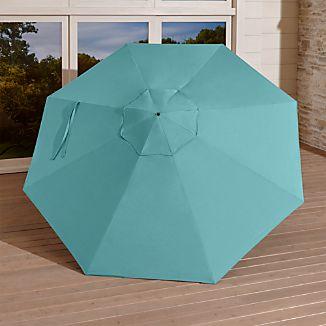 9' Round Sunbrella ® Mineral Blue Umbrella Canopy