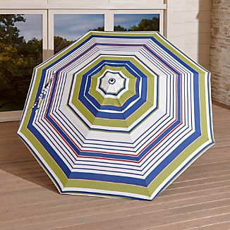 9' Round Sunbrella ® Summer Striped Outdoor Umbrella Canopy