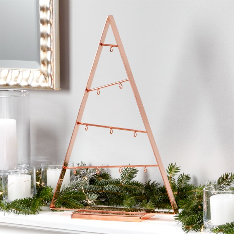"A-Frame 16"" Copper Ornament Tree"