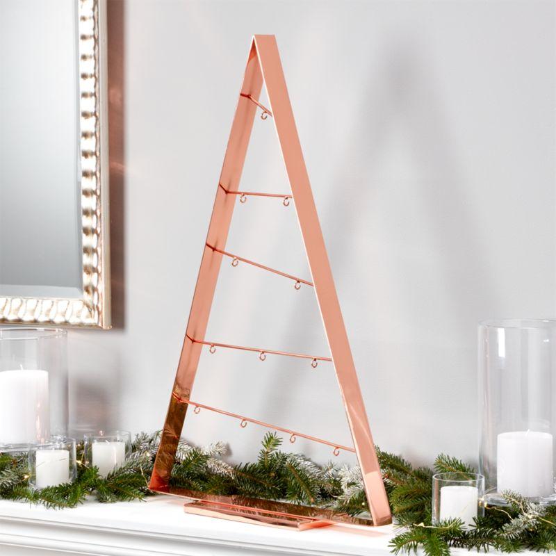 "A-Frame 26"" Copper Ornament Tree"