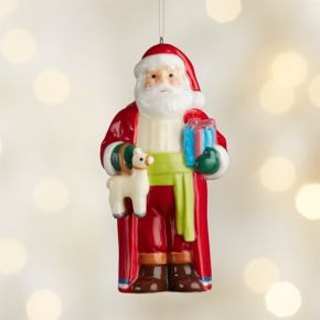 Around the World Chile Santa Ornament