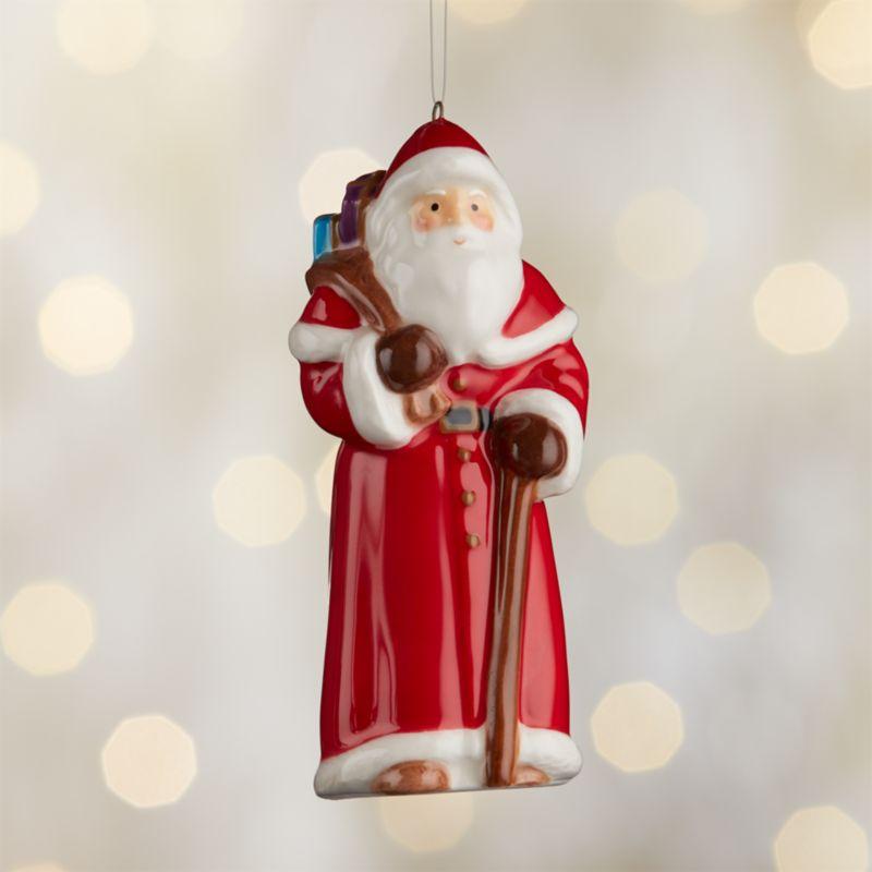 Around the World England Santa Ornament