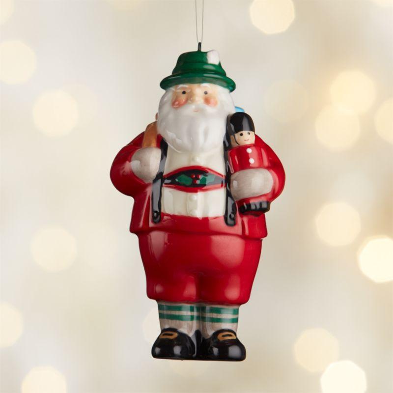 Around the World Germany Santa Ornament