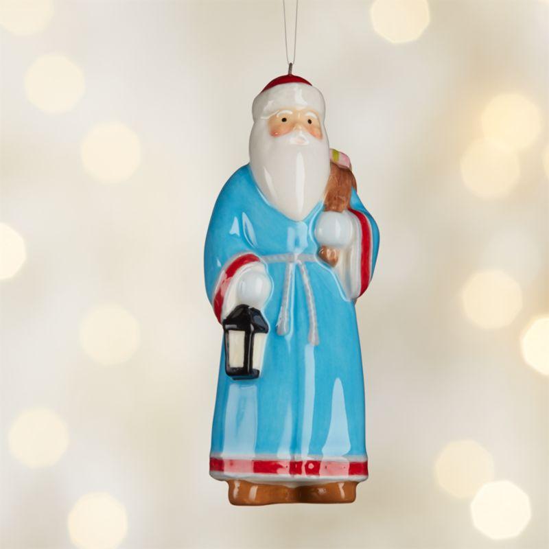 Around the World Greece Santa Ornament