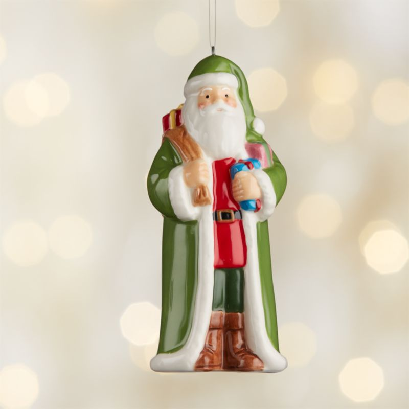 Around the World Ireland Santa Ornament