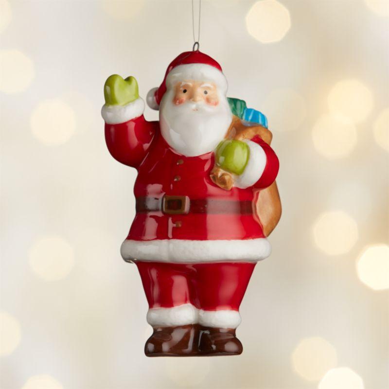 Around the World North America Santa Ornament