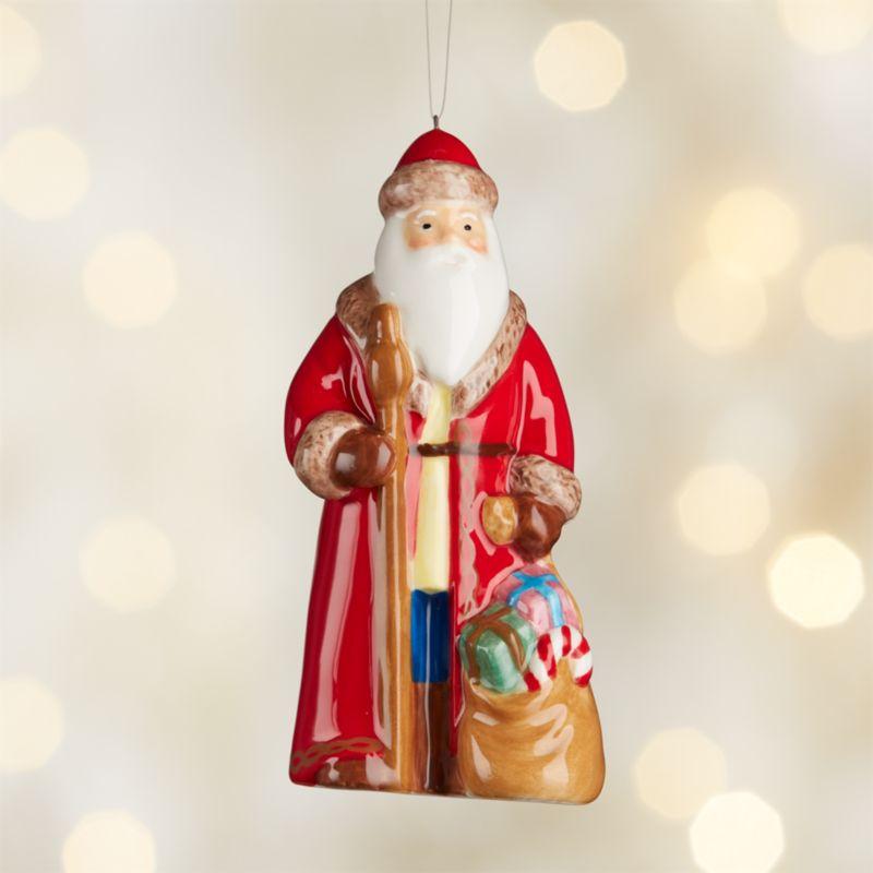 Around the World Spain Santa Ornament