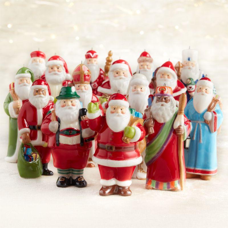 Set of 15 Around the World Santa Ornaments