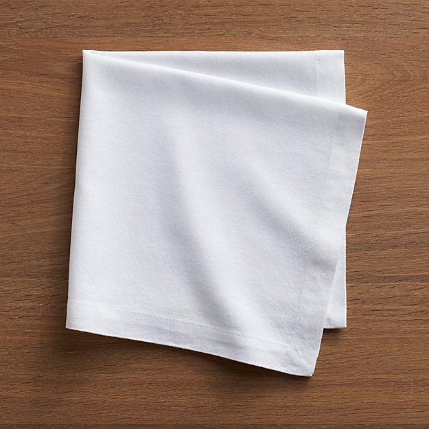 Kitchen Ornaments Abode White Cloth Dinner Napkin | Crate and Barrel