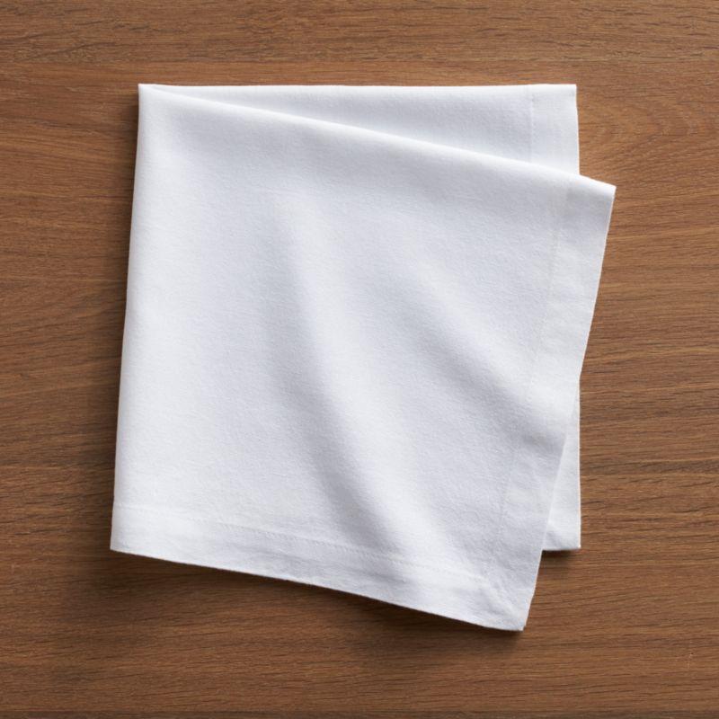 Soft, pre-washed Portuguese cotton white cloth napkin with hemmed borders is the essence of elegant simplicity.<br /><br /><NEWTAG/><ul><li>100% pre-washed cotton</li><li>Do not bleach</li><li>Machine wash cold, tumble dry; warm iron as needed</li><li>Made in Portugal</li></ul>