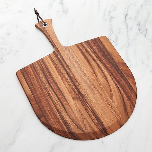 Wooden pizza paddle crate and barrel for Utensilios pizza
