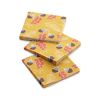 Set of 20 Acorn Paper Beverage Napkins
