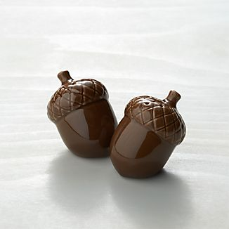 Acorn Ceramic Salt and Pepper Shakers