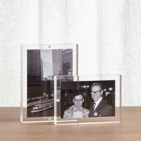 2-Piece Acrylic Block Picture Frame Set