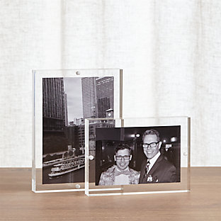 Glass block photo frame 8x10