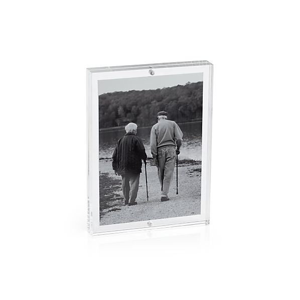 Acrylic 5x7 Block Picture Frame In Picture Frames Crate
