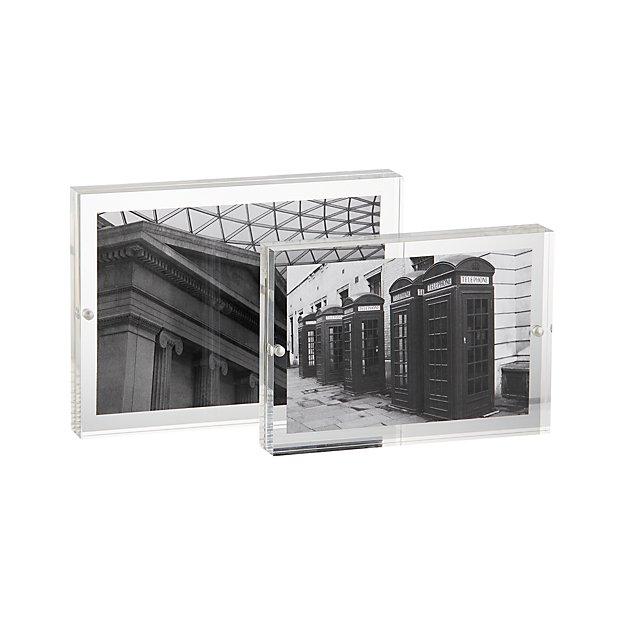 2-Piece Acrylic Block Picture Frame Set