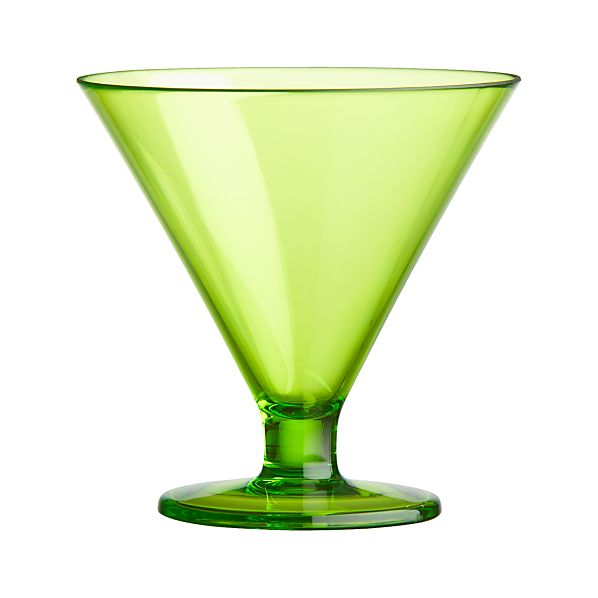 Acrylic Green Cocktail-Dessert Glass