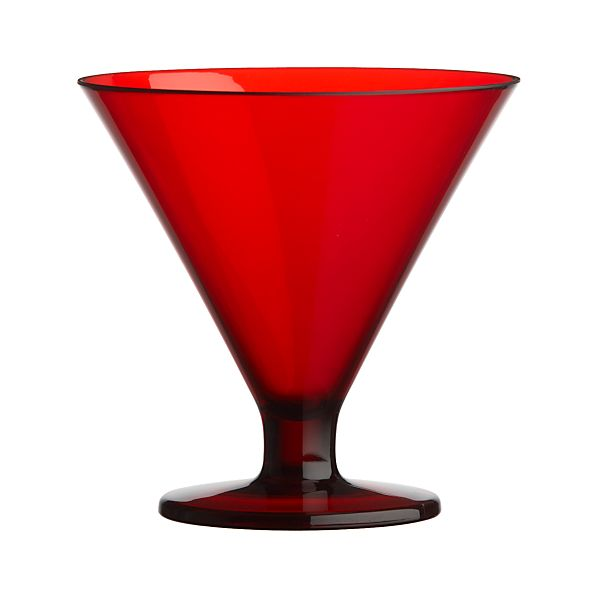 Acrylic Red Cocktail-Dessert Glass