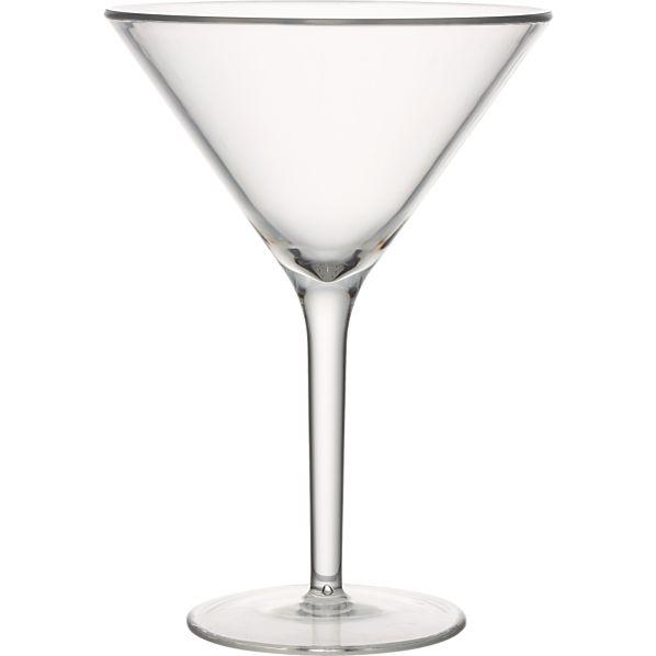 Acrylic Martini Glass