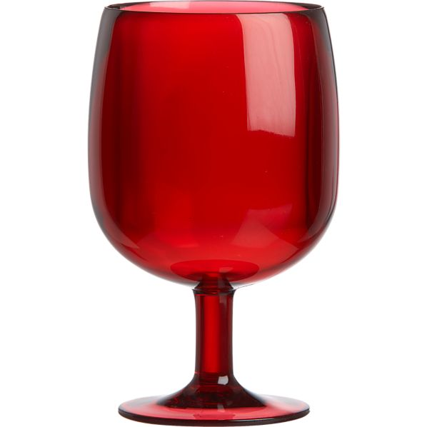 Stacking Red Acrylic Wine Glass