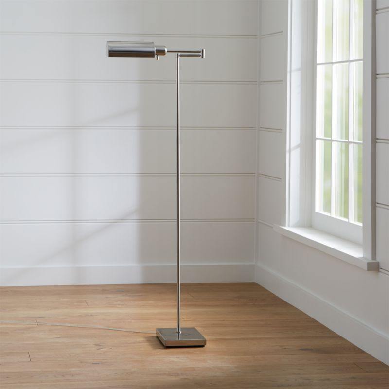 Adams Nickel Pharmacy Floor Lamp