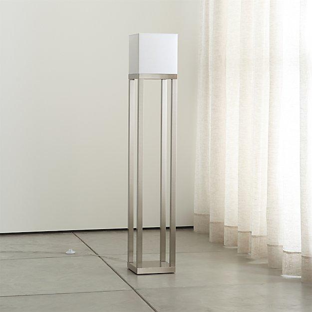 aerin brushed nickel floor lamp crate and barrel