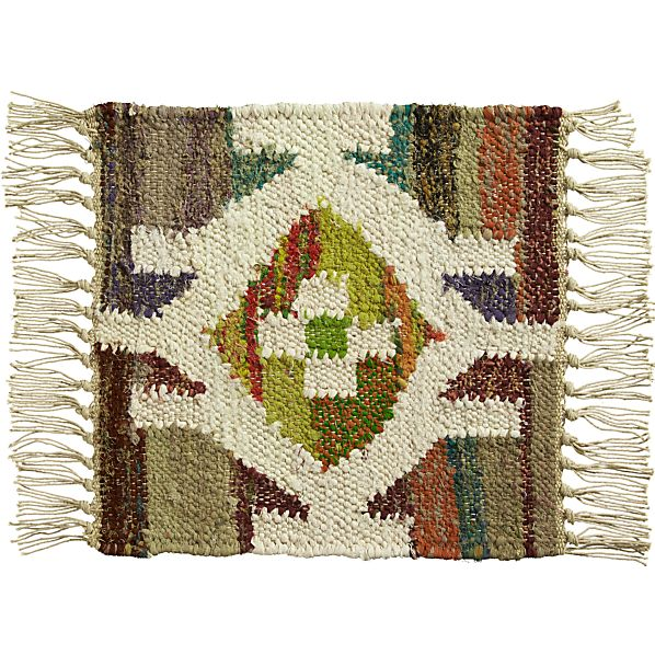 """Agra Yellow 12"""" sq. Rug Swatch"""