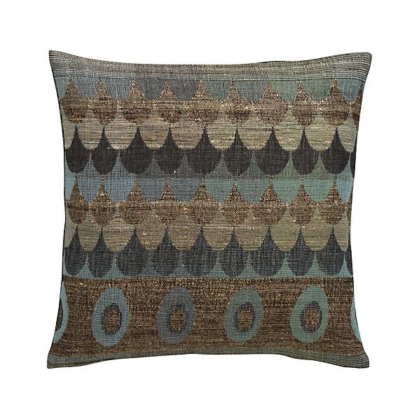 "Agua 20"" Pillow with Feather-Down Insert"
