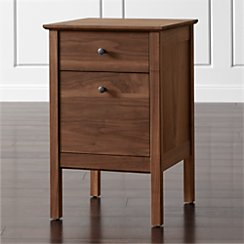 Ainsworth Walnut Single Filing Cabinet