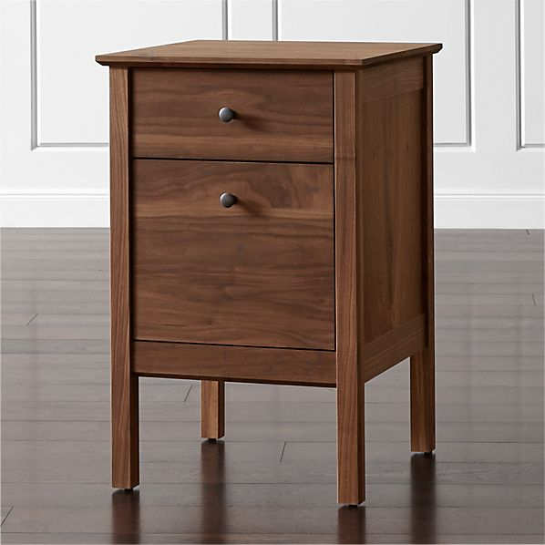 Ainsworth Walnut Single Filing Cabinet