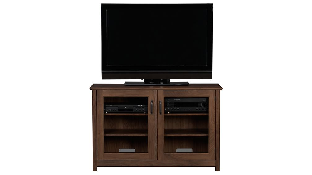 "Ainsworth Walnut 47"" Media Console with Glass/Wood Doors"