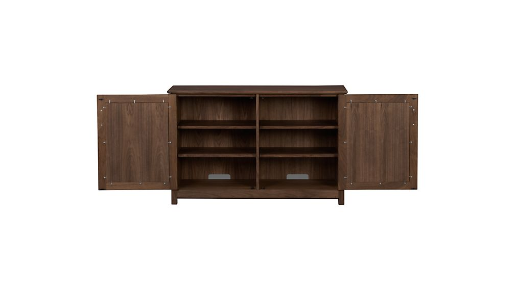 """Ainsworth Walnut 47"""" Media Console with Glass/Wood Doors"""