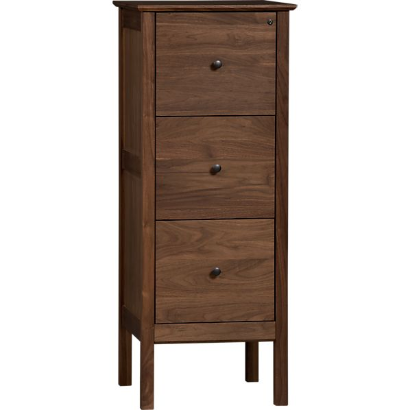 Ainsworth Walnut Triple Filing Cabinet