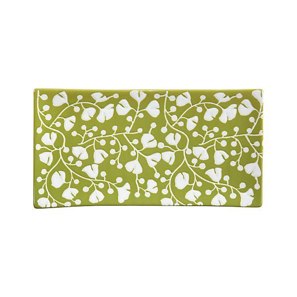 """Akemi Green 12.5""""x6.5"""" Platter"""