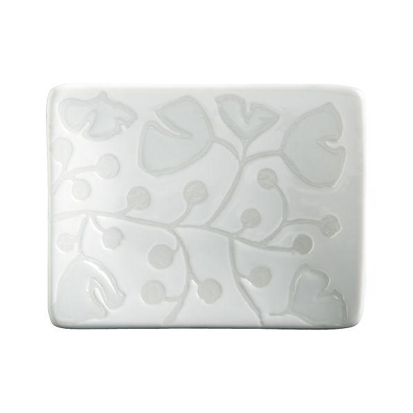 "Akemi White 3.375""x2.5"" Mini Dish"