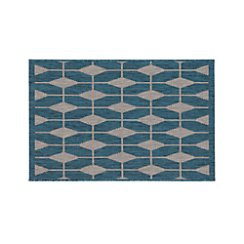 Aldo Blue Indoor-Outdoor 2'x3' Rug